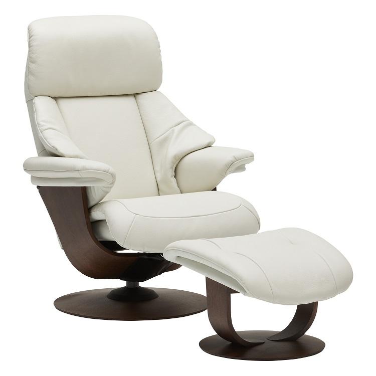 ザ・ファースト RU7300(M)オットマンセット ホワイト モカブラウン