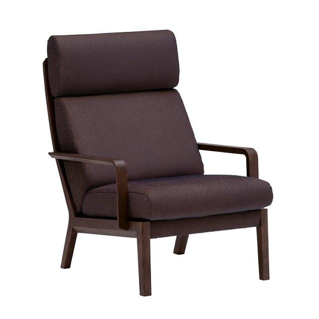 肘掛椅子 WU4600 ダークネイビー モカブラウン