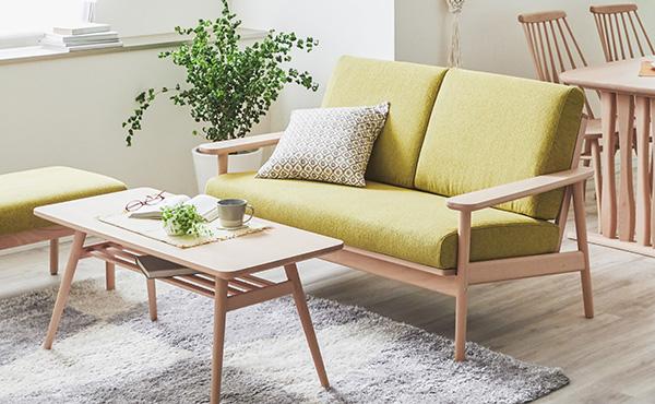 <span>コンパクトソファ特集</span>たたみ一畳に収まる、省スペースなソファを特集。お部屋を広く見せる工夫もご紹介します。